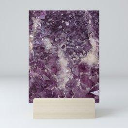 Deep Purple Quartz Crystal Mini Art Print