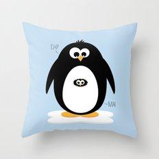 Penguin-egg  Throw Pillow