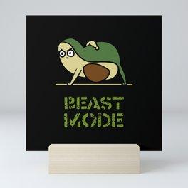 Beast Mode Avocado Mini Art Print