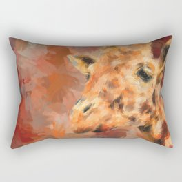 Long Necked Friend Giraffe Art Rectangular Pillow