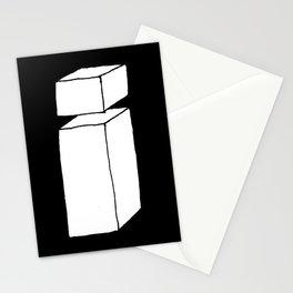3D letter i on black Stationery Cards