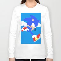 sonic Long Sleeve T-shirts featuring Sonic(Smash) by ejgomez
