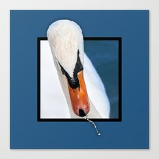 Swan with 3D pop out of frame effect Canvas Print