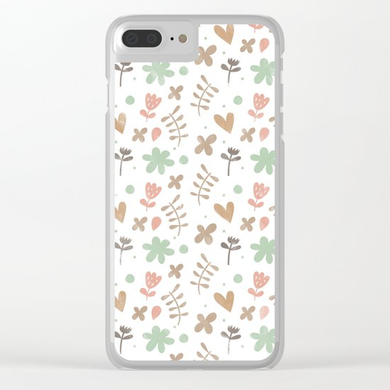 Colorful Lovely Pattern II Clear iPhone Case
