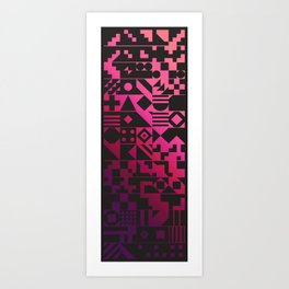 Digital Inkblot Art Print