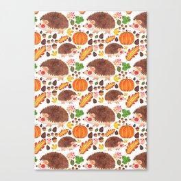 Autumn Hedgehog Canvas Print