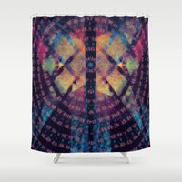 third eye Shower Curtains featuring squeegee your third eye by joseph arruda (zeruch)