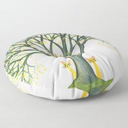 Odessa Whimsical Cats in Tree Floor Pillow