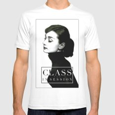 Class in Session Mens Fitted Tee MEDIUM White
