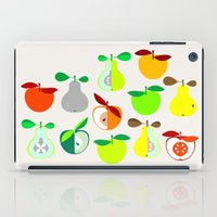 50s iPad Cases featuring Apples and Pears / Geometrical 50s pattern of apples and pears by In The Modern Era