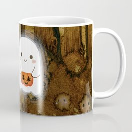 Little ghost and pumpkin Coffee Mug