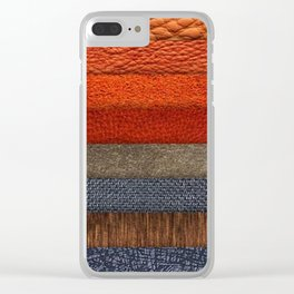 Cool colth texture design Clear iPhone Case