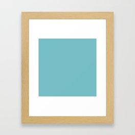 Solid Pale Blue Hosta Color Framed Art Print