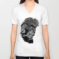 gladiator V-neck T-shirts featuring PNKMNKY by karakalemustadi