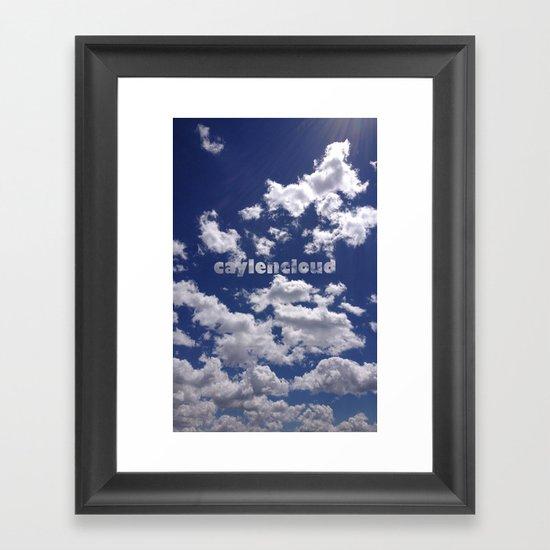 CaylenCloud. Framed Art Print