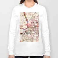 memphis Long Sleeve T-shirts featuring Memphis by MapMapMaps.Watercolors