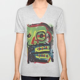 Abstract portrait 15 Unisex V-Neck