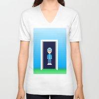 portal V-neck T-shirts featuring Portal by Nick's Pix