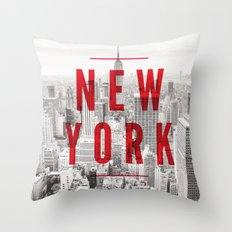 New York Cityscape Throw Pillow