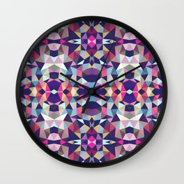 Dark Garden Tribal Wall Clock
