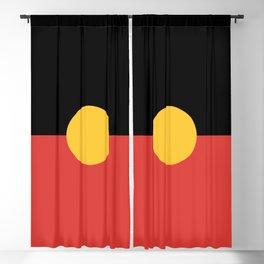 Australian Aboriginal Flag Blackout Curtain