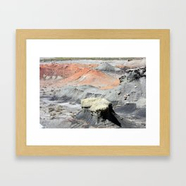 Color In The Badlands Framed Art Print