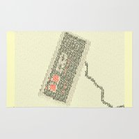 code Area & Throw Rugs featuring Konami Code by Robotic Ewe