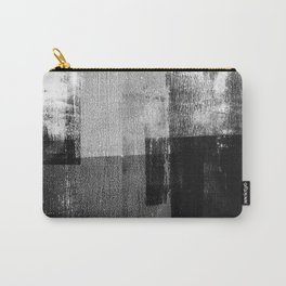 Black and White Minimalist Industrial Abstract Carry-All Pouch
