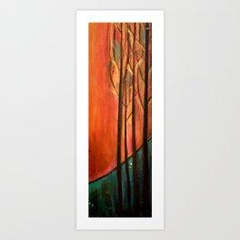 Sunset Woods Art Print