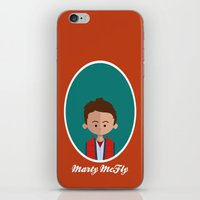 marty mcfly iPhone & iPod Skins featuring Marty McFly by Juliana Motzko