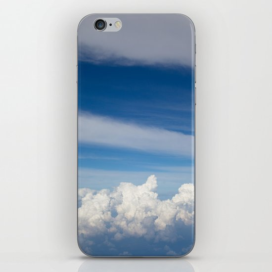 My bed of white and blue iPhone & iPod Skin