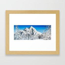 Pyramid Mountain Framed Art Print