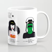 league Mugs featuring THE LEAGUE by kravic