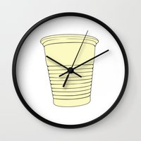 cup Wall Clocks featuring Cup by João Malossi