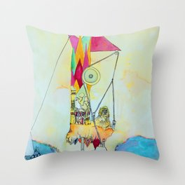 Triangulation Tower Throw Pillow
