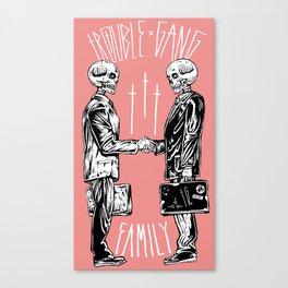 TROUBLE SHAKE Canvas Print