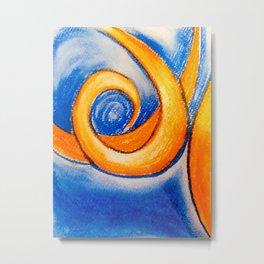 Marmalade Swirl Metal Print