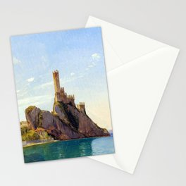 Fritz Petzholdt View of Malcesine at Lake Garda Stationery Cards