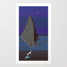 THE OBSCURE MERMAID AND THE SINISTER SEA Art Print