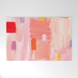 Put Sorrows In A Jar - abstract modern art minimal painting nursery Welcome Mat