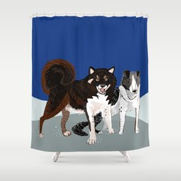 Karafuto Ken - Sakhalin husky Shower Curtain