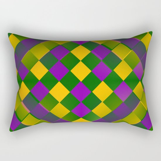 Harlequin Mardi Gras pattern Rectangular Pillow