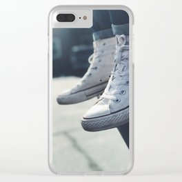 All White Chucks Clear iPhone Case