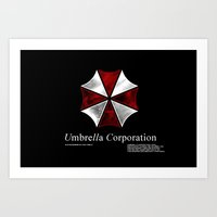 resident evil Art Prints featuring Resident Evil Umbrella Corporation by Liquidsugar