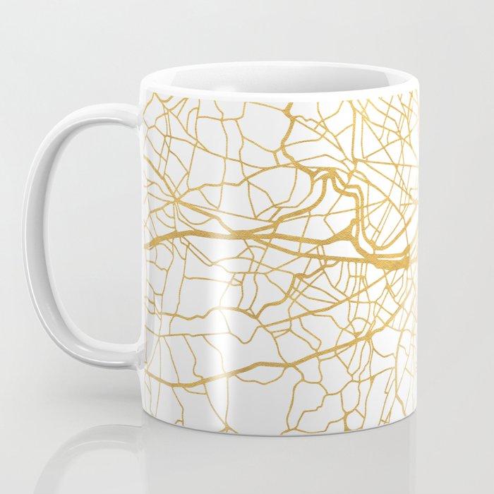 BOSTON MASSACHUSETTS CITY STREET MAP ART Coffee Mug