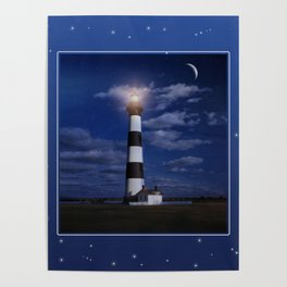 Night at Bodie Island Light Poster