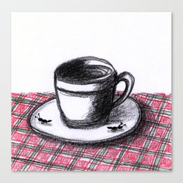 Coffee Cups Collection - #1 Coffee cup with ants. Canvas Print