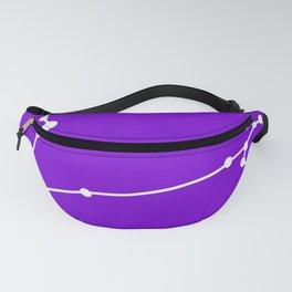 Pisces (White & Purple) Fanny Pack