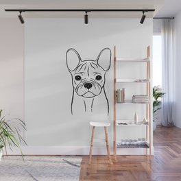 French Bulldog (Black and White) Wall Mural