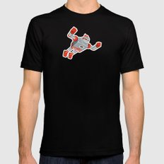 Jaianto Punch-Robo Black SMALL Mens Fitted Tee